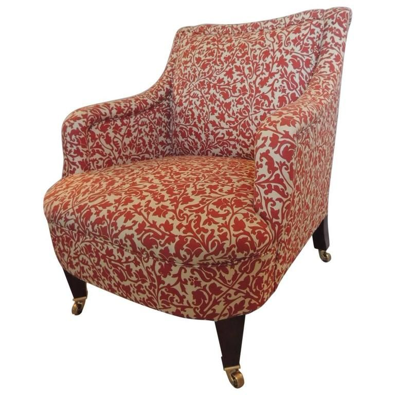 Classic George Smith Upholstered Armchair In India Flower Fabric | From A  Unique Collection Of Antique