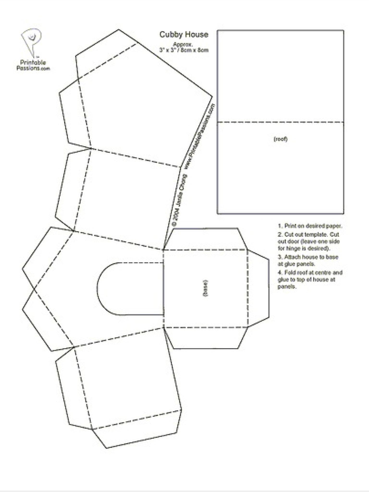 Huisje van papier | การศึกษาและ SI | Pinterest | Free pattern ...