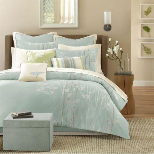 Bed Comforter Sets, Seafoam Blue Bedding
