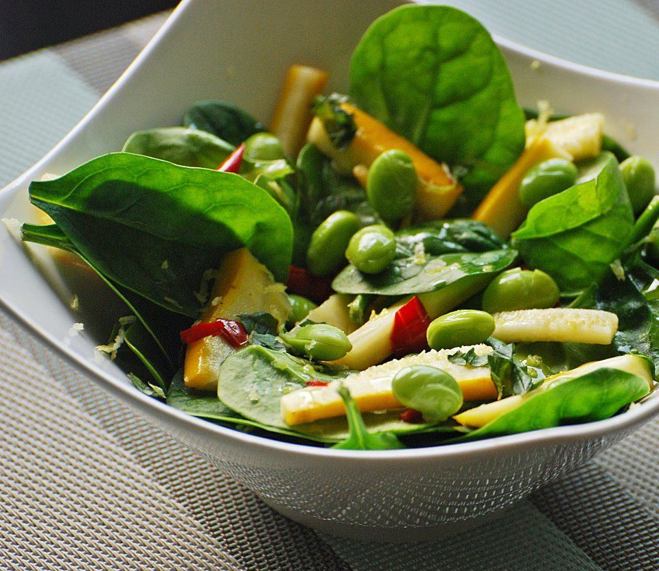 Have fresh greens for breakfast and your digestive system will love you back. The first thing you'll notice is that your trips to the bathroom will be regularized and you will eat less throughout the day. Salads can be fun, so throw in whatever you like best. This spinach salad with avocados, almonds & cranberries is delicious and wholesome    http://vegweb.com/recipes/spinach-salad-fat-free-dressing    Spinach Salad with Fat Free Dressing | VegWeb.com    Mbele TV