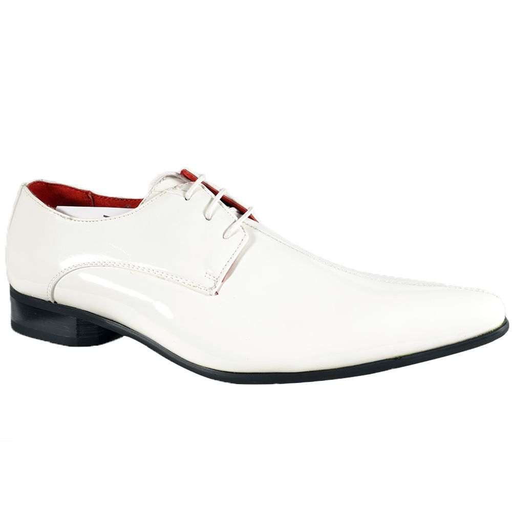 Mens White Dress Shoes - Dress Ty | grooms shoes | Pinterest ...