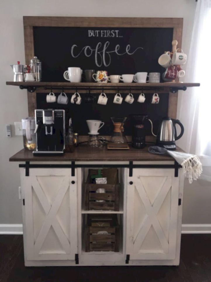 rustic coffee bar stand