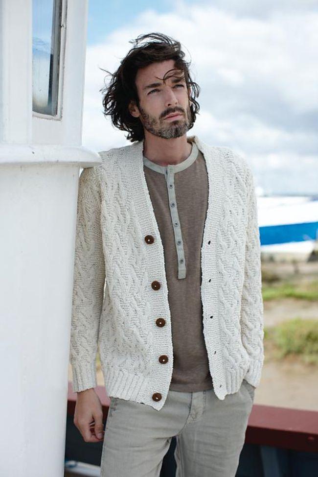 New Favorites: the perfect Summer aran | Men knitwear | Pinterest