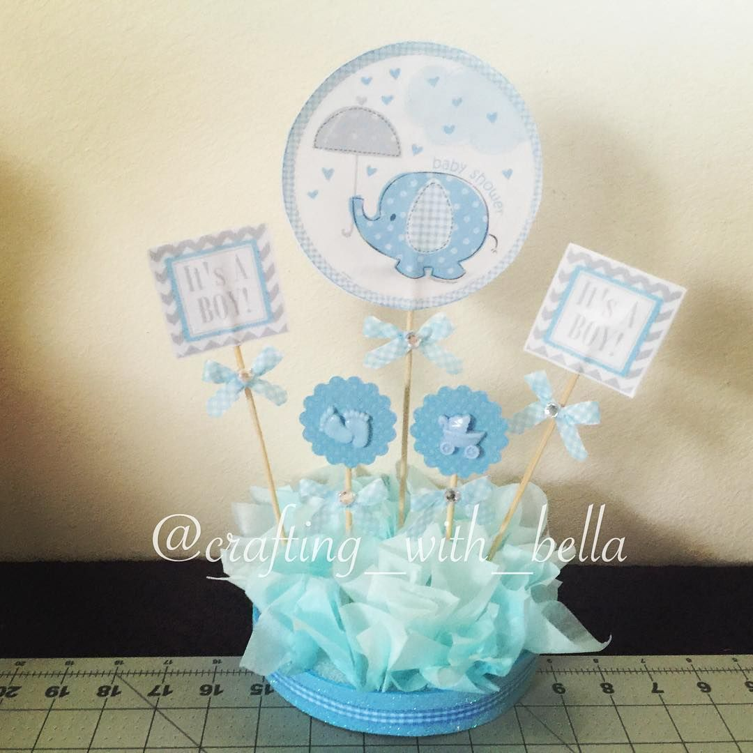 It 39 s a boy table centerpiece es un ni o centro de mesa a for Mesa baby shower nino
