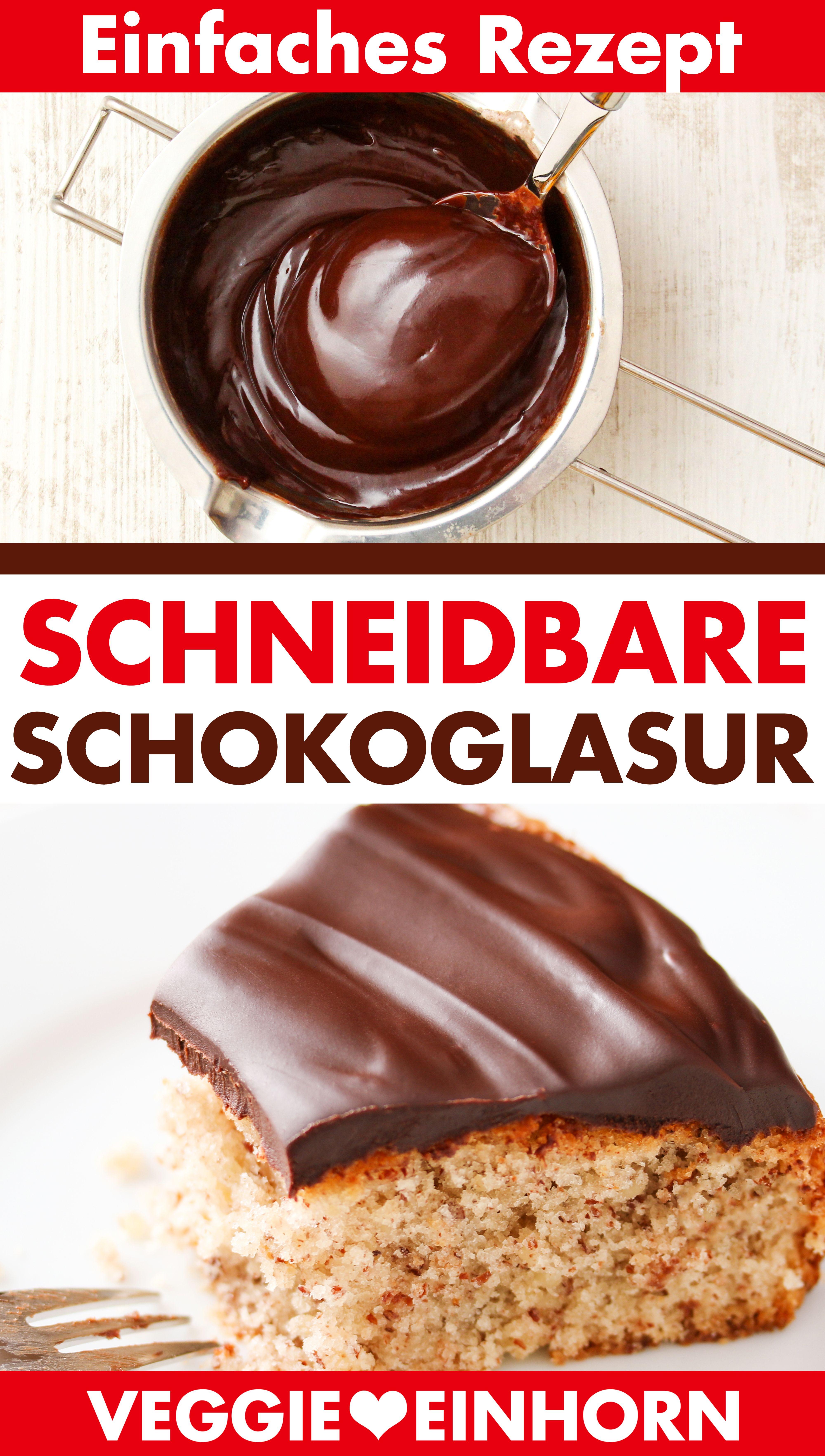 Photo of Schneidbare Schokoglasur selber machen | Einfaches Rezept für weichen Schokoladenüberzug für Kuchen