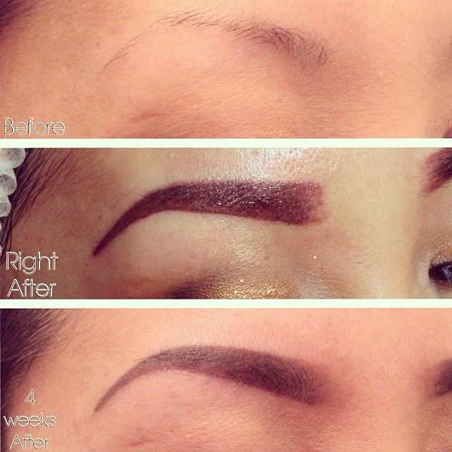 Eyebrow Tattooing Before And After Pics Tattoos Eyebrow