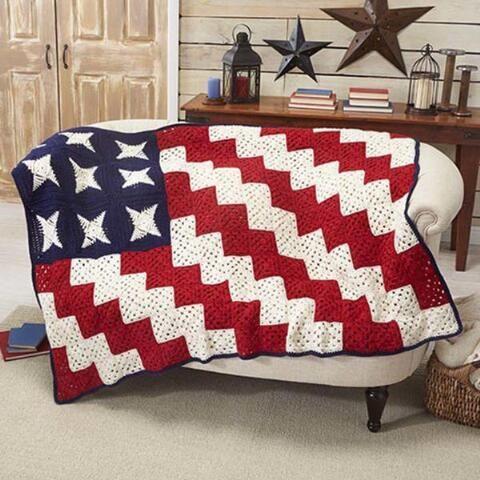 Folk Art Throw FREE Downloadable Crochet Pattern - Herrschners