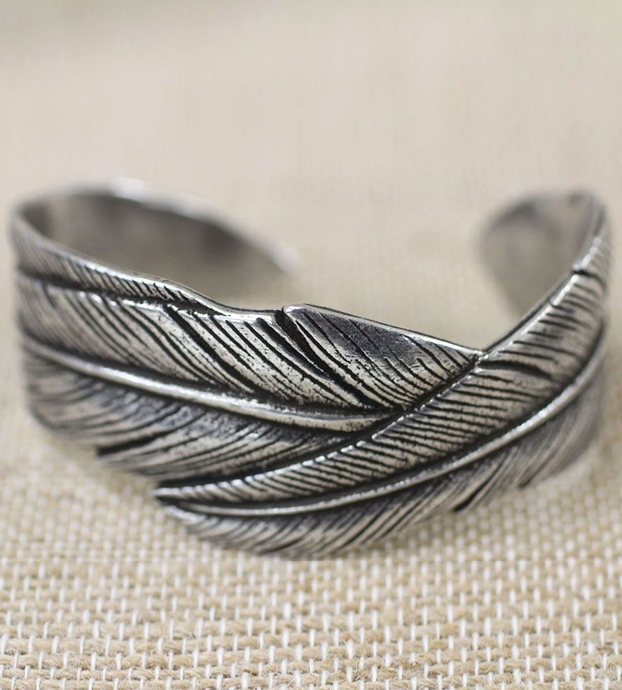 Intertwining Feather Cuff Bracelet Jesse And Co 1406129949