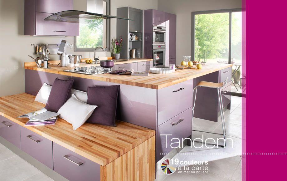 Cuisine Tandem Cuisines Montees Lapeyre Avec Images Cuisine Originale Cuisine Lavande Idee Decoration Cuisine