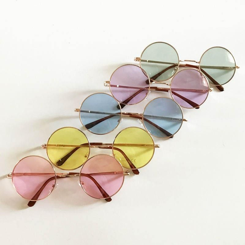 a00e732ea2c27 Payton colorful round retro sunglasses ( 37) ❤ liked on Polyvore featuring  accessories