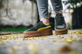 ac430b341b4b26 Image result for Fenty Suede Cleated Creeper Women s puma green