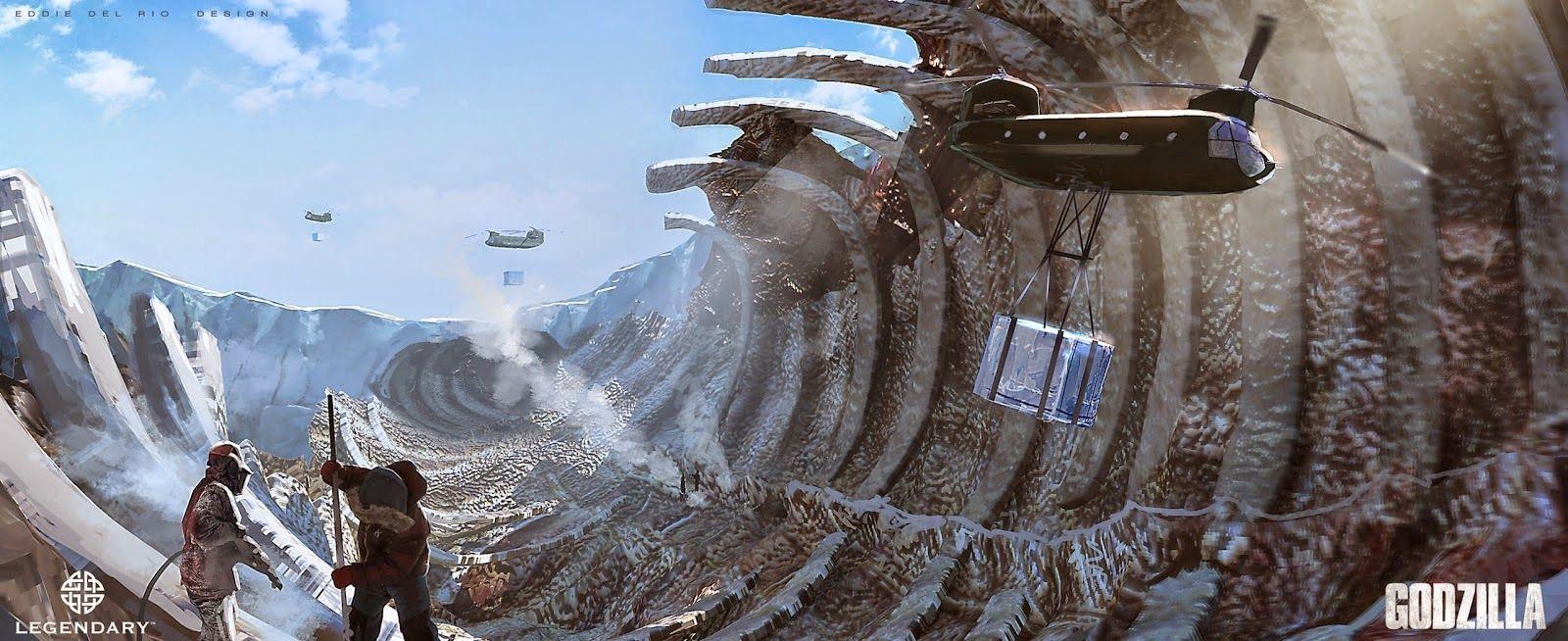 Godzilla (2014) concept art Concept art world, Concept