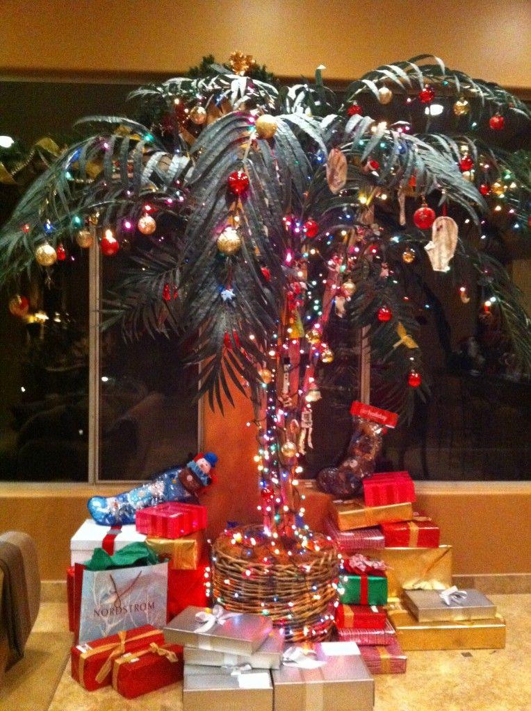 Festive & Ornamental Palm Tree. | Coastal Christmas Decor ...