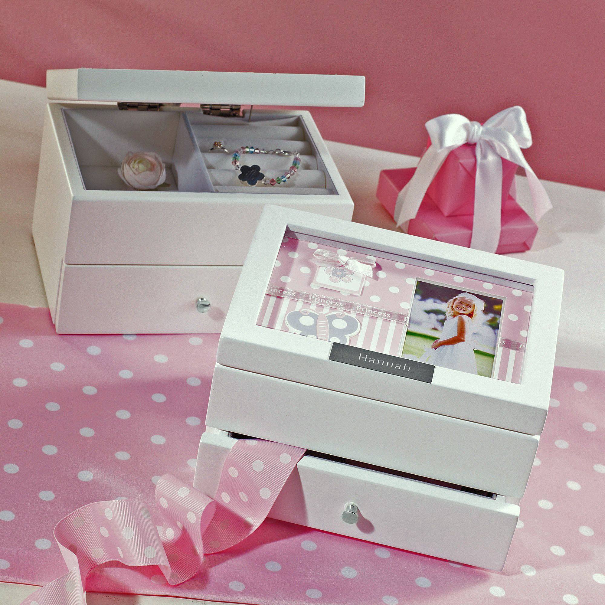 Best Wedding Gift For Girl: Personalized Photo Jewelry Box For Flower Girl