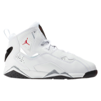 "Jordan True Flight Boys' Preschool White Red Kids ""title = Kids"
