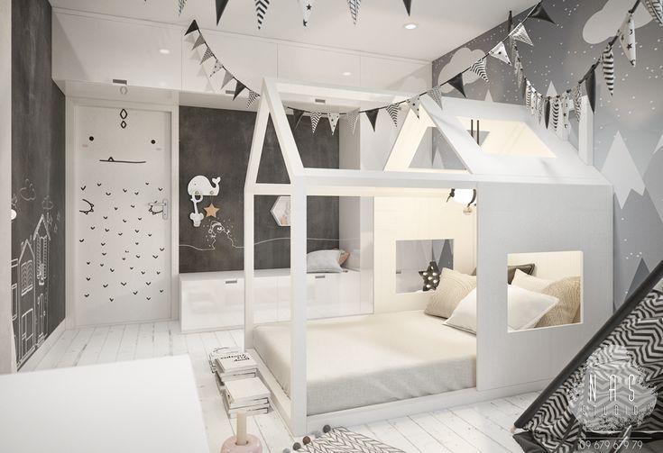 Kinderzimmer im skandinavischen Stil auf Behance  #behance #childrenroomdecoration #kinderzimmer #skandinavischen #kleinkindzimmer