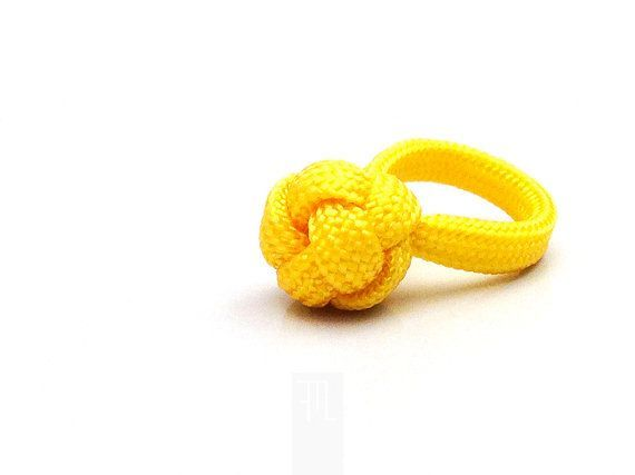 yellow paracord ring with diamond knot friendship by FMLdesign, €12.00