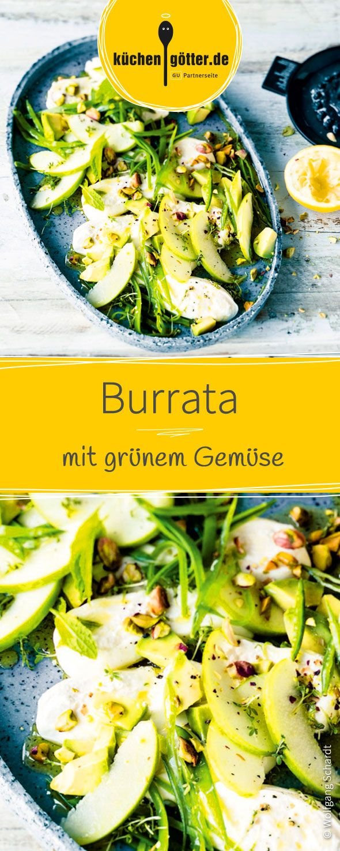 Burrata mit grünem Gemüse | Rezept | Low carb & healthy food ...