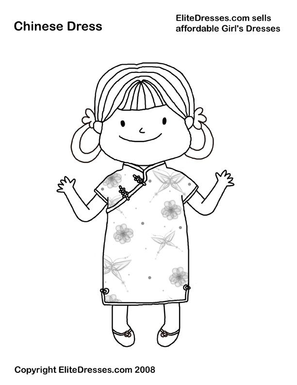 chinese children coloring pages - photo#14