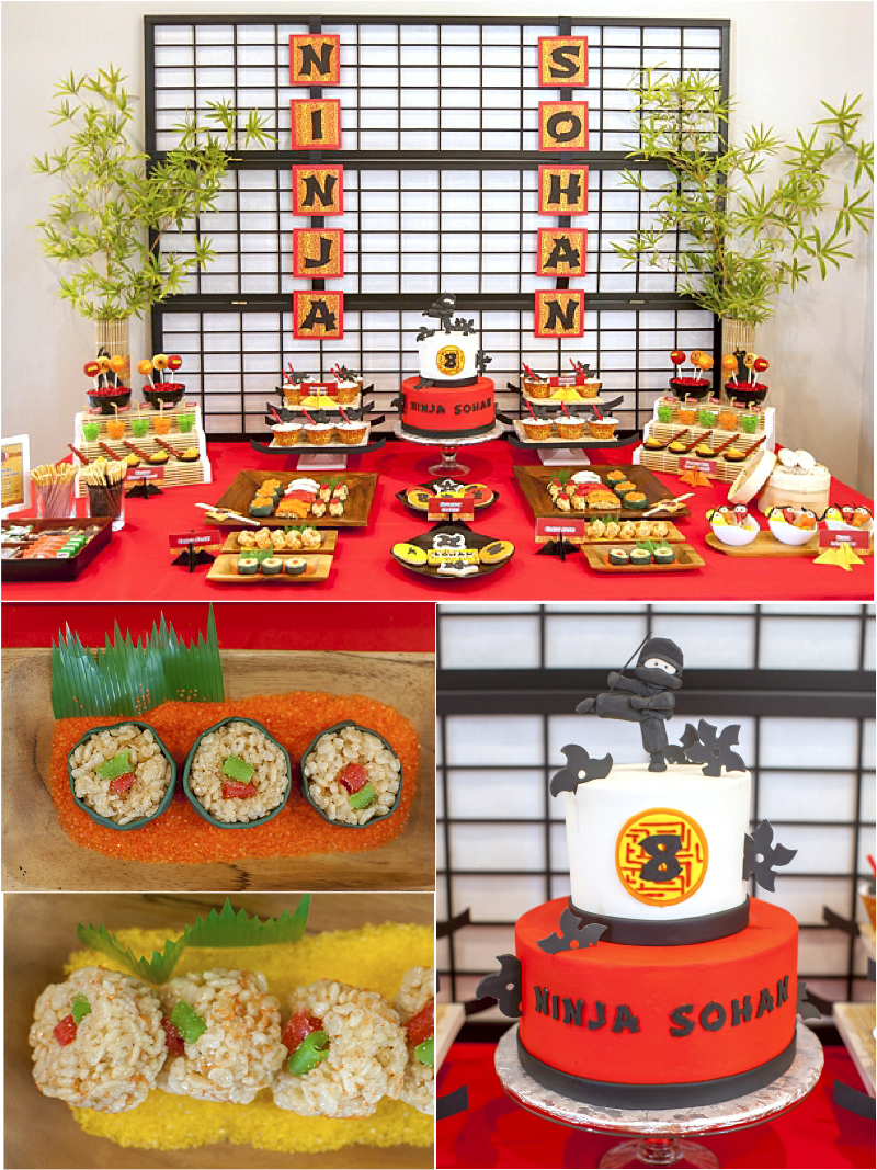 Ninja Japanese Birthday Party Printables Supplies Decorations