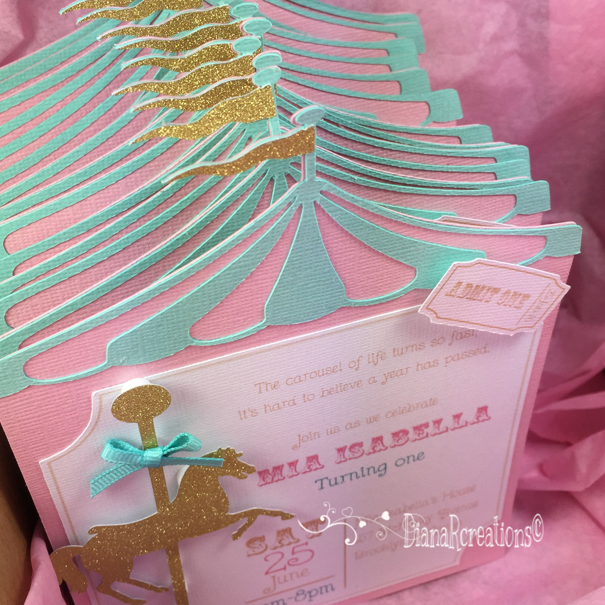 Carousel horse birthday invitations! | Birthday invites ...