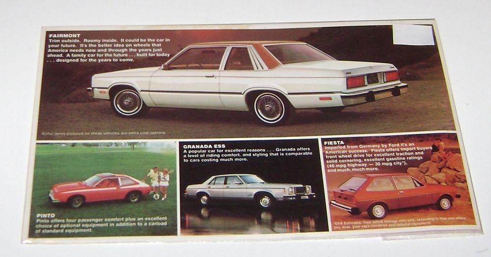 Vintage Ford Fairmont Mailing Advertisement Fairmont Car Insurance Auto Insurance Quotes