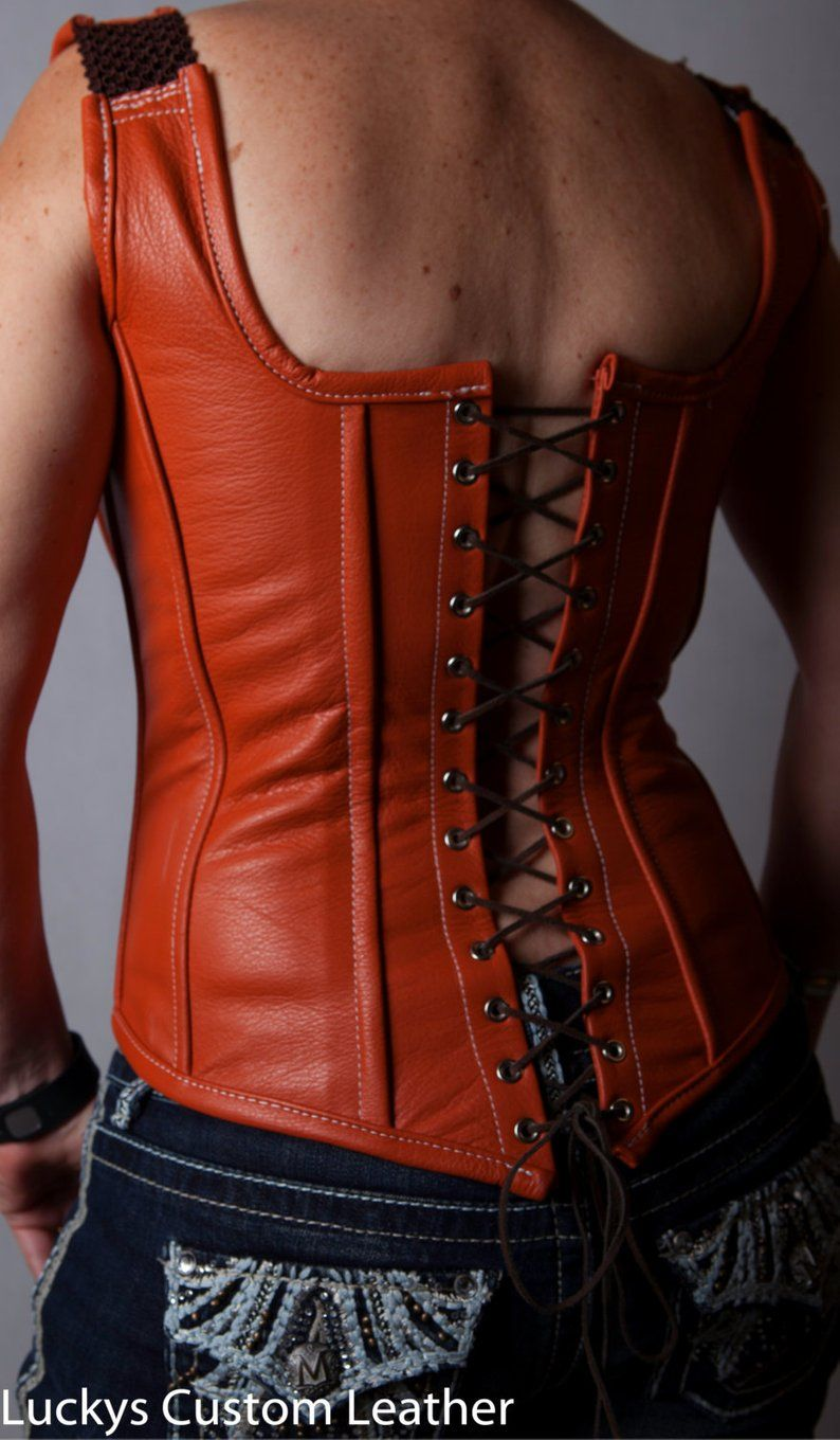 Corset Boned corset 100/% leather Over bust corset women/'s leather corset gift for her Custom made Unique corset fully lined