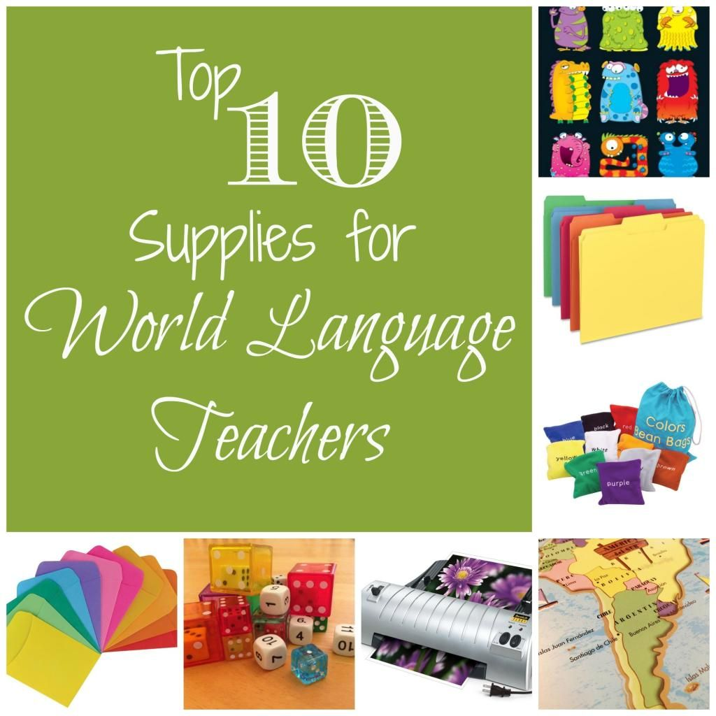 Teaching Supplies {for World Language Teachers} | 1.1 School ...