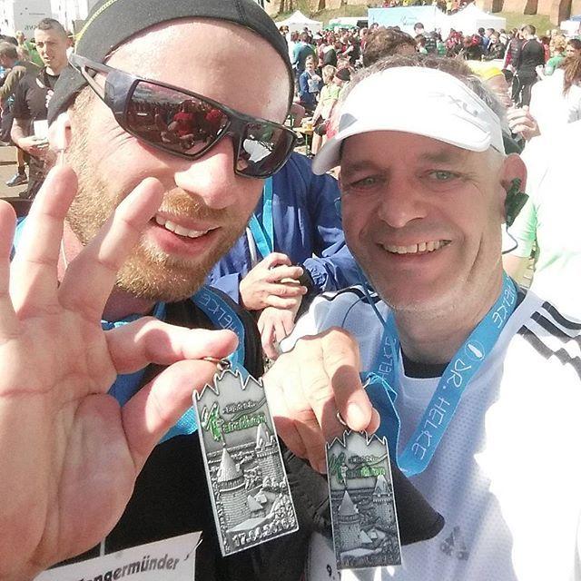 Wieder da! Alles easy.  #Elbdeichmarathon #Tangermünde #running #halbmarathon  Jetzt n Bier!
