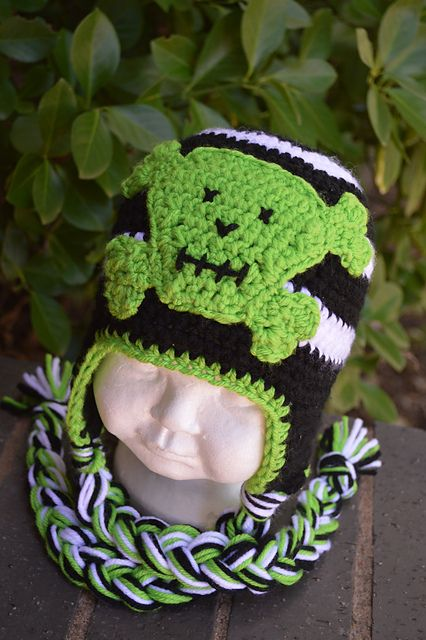 Skully Hat (All sizes included) pattern by Boomer Beanies | Gorros ...