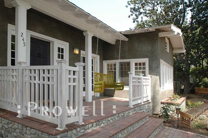 Outdoor Home Railings | ... Porch Railing was designed for ... on Uncovered Patio Ideas id=87898