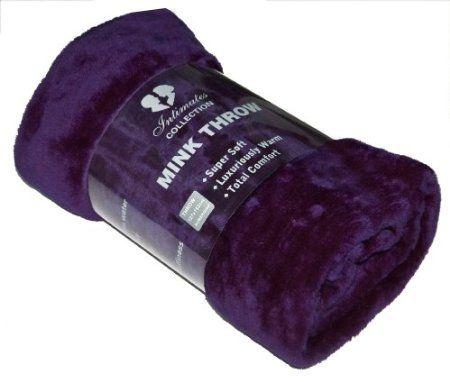Mink Faux Fur Throw / xcms Aubergine / Throw Purple / Plum Extra efeec9
