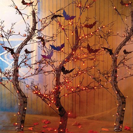 Pre-Lit Spooky Tree Halloween Decor Stuff to make for mine and