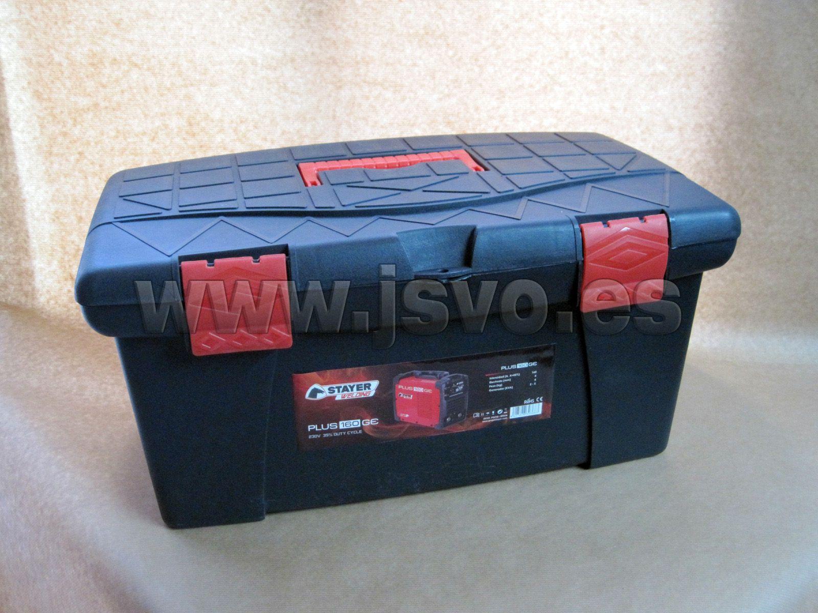 Soldadura por electrodo 40% Inverter MMA Stayer ® Professional Line Plus 160 GE KIT ref.: 1.1213 www.jsvo.es