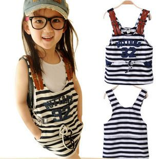 $13.43 2016 summer baby girl stripe suspender straight skirt leisure cotton letter fashion children clothes  http://www.dhgate.com/store/product/2016-summer-baby-girl-stripe-suspender-straight/380564545.html