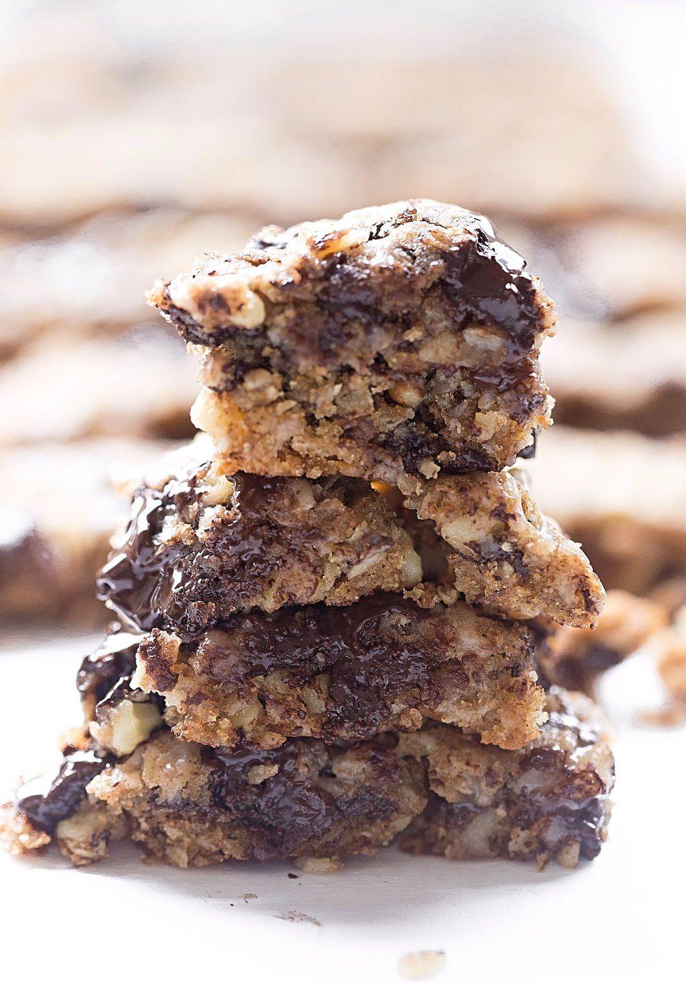 oatmeal chocolate chip walnut bars