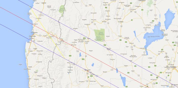Chile Solar Eclipse 2019 Map. We will be in La Serena and make our