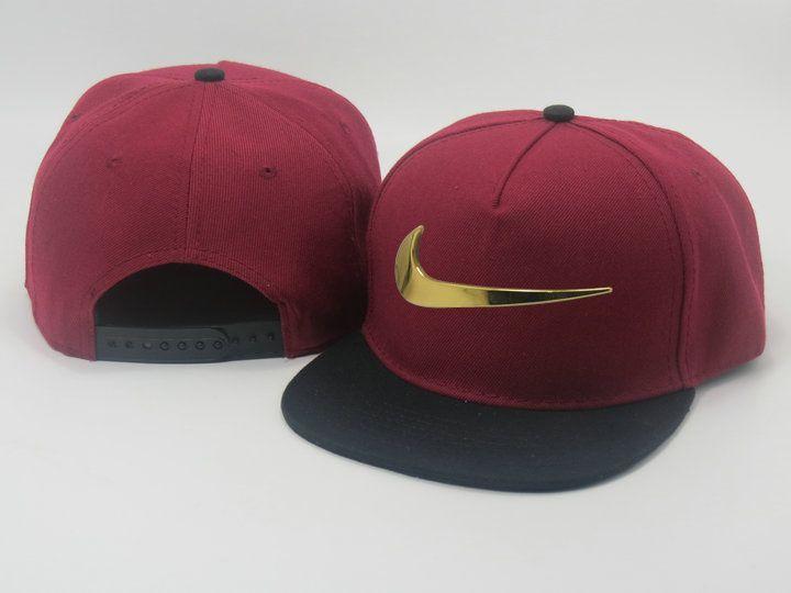2fff596fae7 Men s Nike Heritage Dri-FIT Jumbo Nike Gold Metal Logo Front A-Frame  Baseball…
