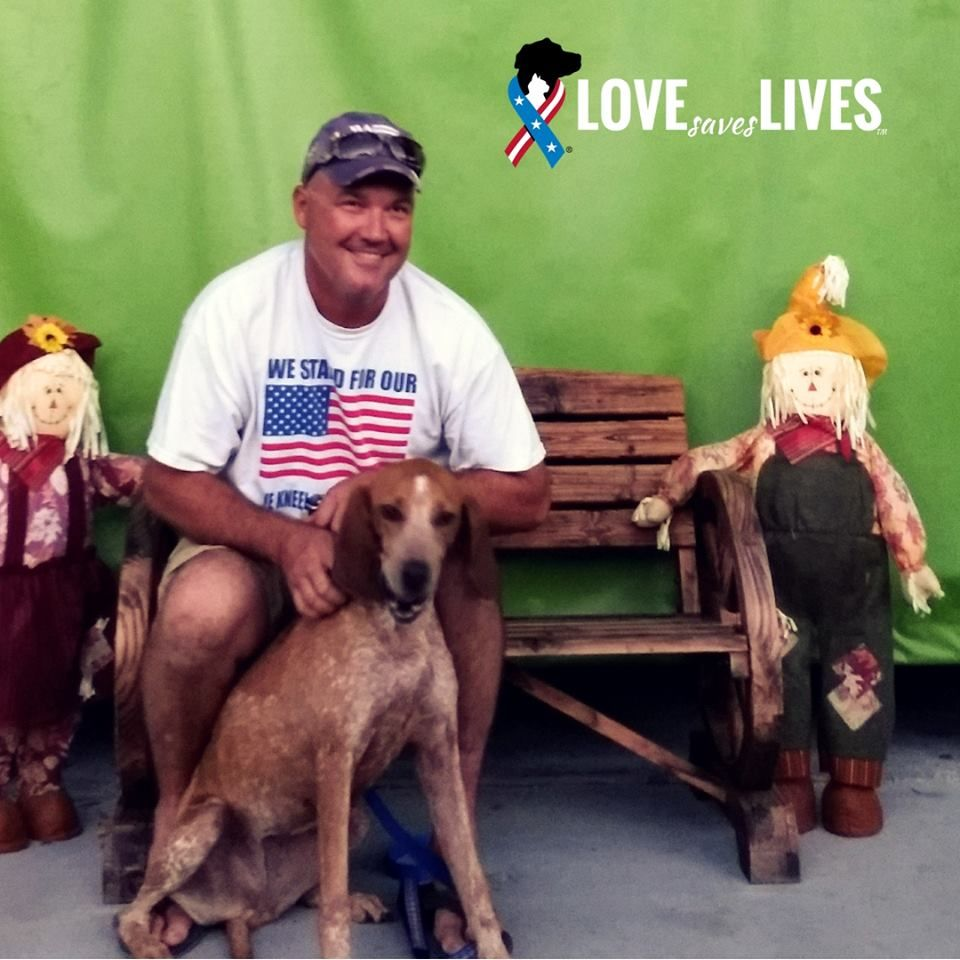 Christopher A Marine Veteran Adopted Bambi From Our Friends At Big Dog Ranch Rescue They Reduce Their Adoption Fee To Just 50 For Dog Years Pets Big Dogs