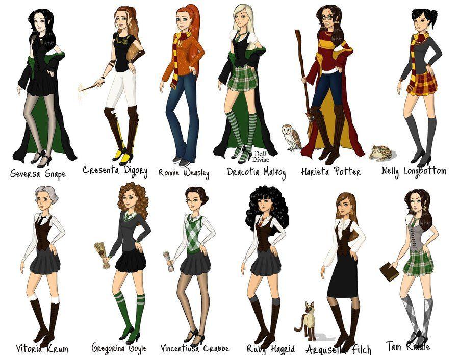 Hp Fun With Gender Bending By Https Www Deviantart Com Taylor Magnificent On Deviantart Female Harry Potter Harry Potter Characters Fem Harry Potter