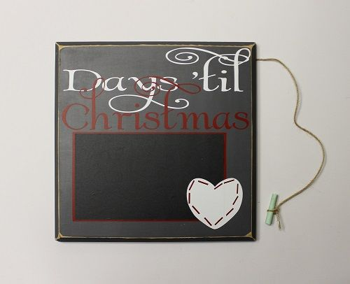 Make this fun and festive Days Til Christmas sign part of your holiday (or year-round) decor! Sign measures 12 X 12 inches and colors can be personalized Pin now, view later!