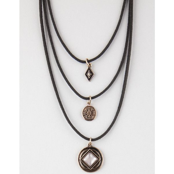f74a3a133 Full Tilt 3 Layer Charm Necklace ($9.99) ❤ liked on Polyvore featuring  jewelry, necklaces, lobster claw charms, layered necklace, multi layer  necklace, ...