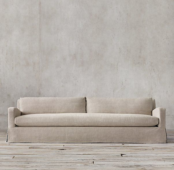 The Pee Belgian Slope Arm Slipcovered Sofa Lengths 5 6 7 8 9 10 Depth 34 Height 28 Clearance Needed For Delivery