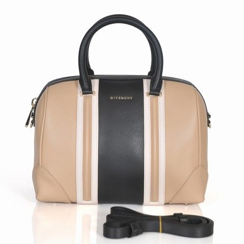 Givenchy Lucrezia Small Boston Bag Apricot Black Leather 1112S  289.00 415ad8fcb692e