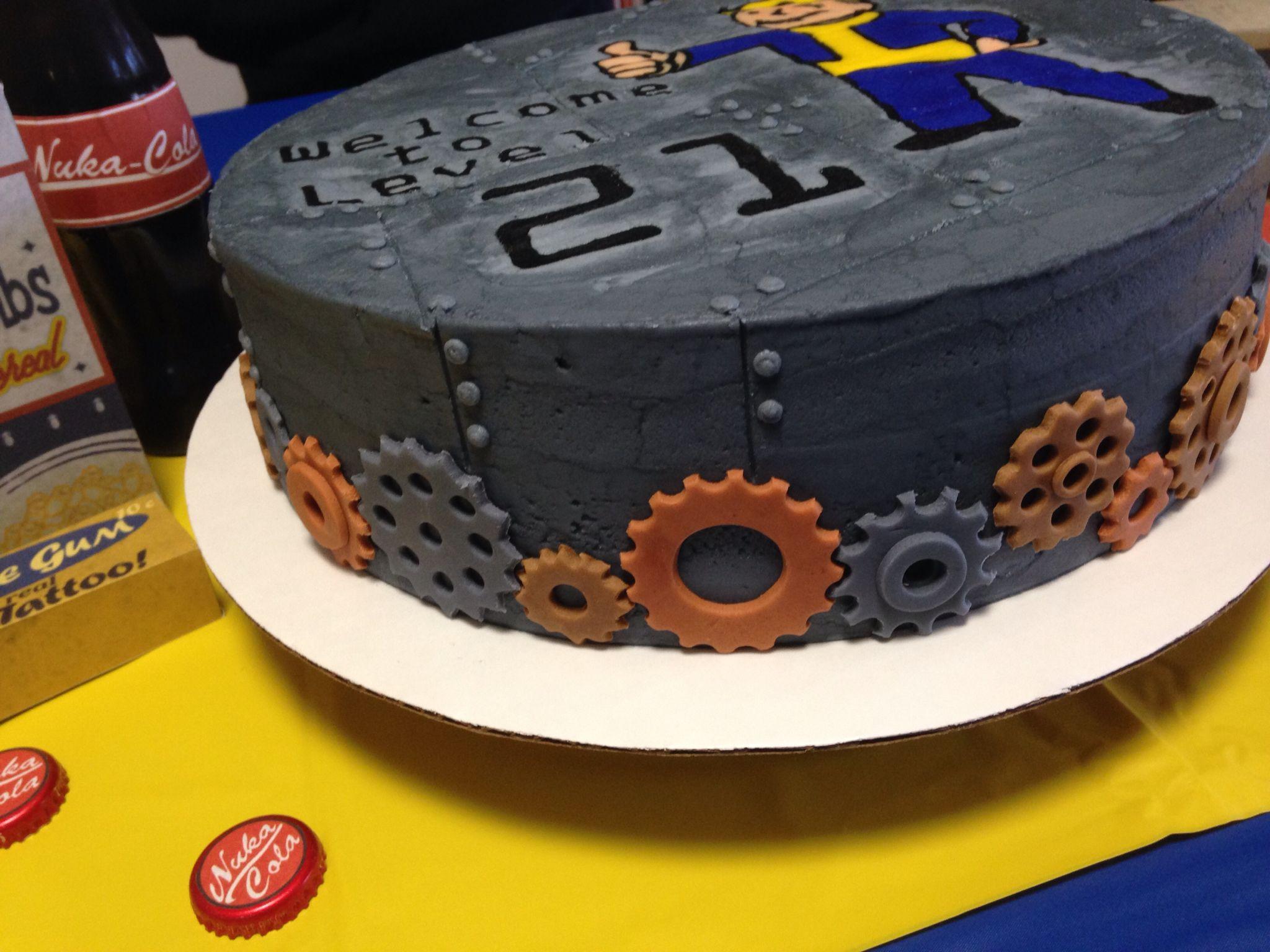 Fallout Birthday Cake Buttercream Fondant Cupcake Cakes