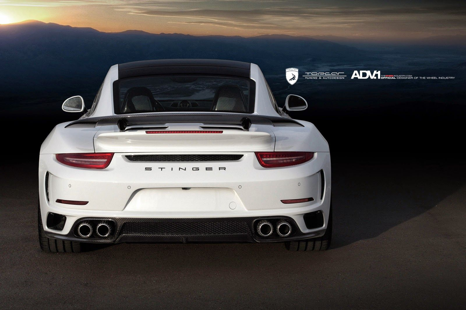 Porsche Stinger 991 Turbo On Adv5 M V1 Sl By Topcar Porsche