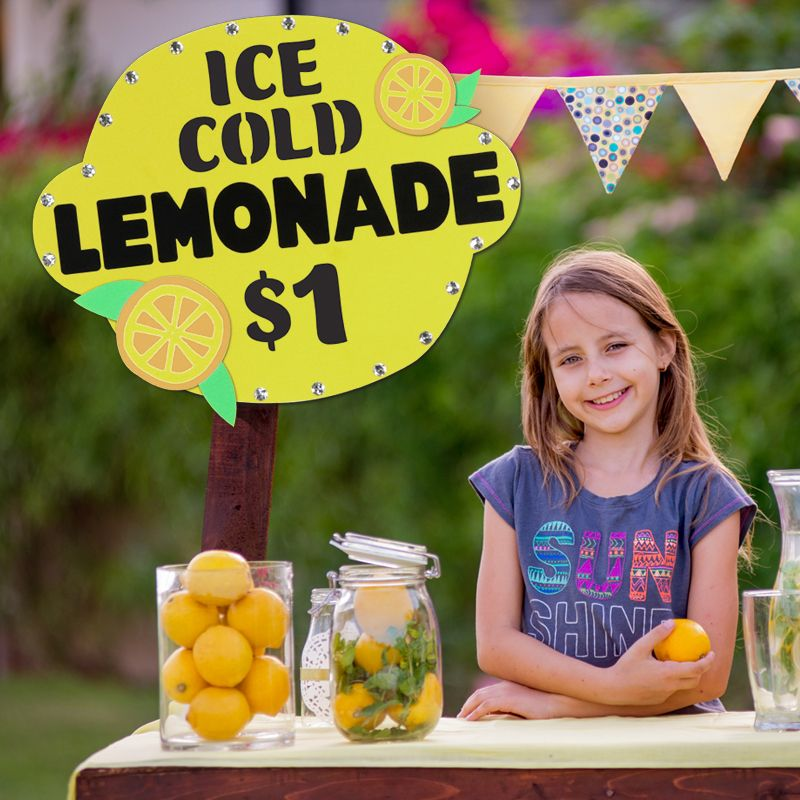 Increase your lemonade stand 39 s sales with this lemon for Lemon shaped lemonade stand
