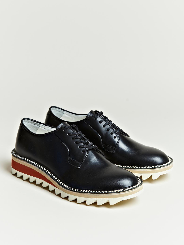 7d6fa388cc5 Hiroshi Tsubouchi Women s Ripple Sole Derby Shoes