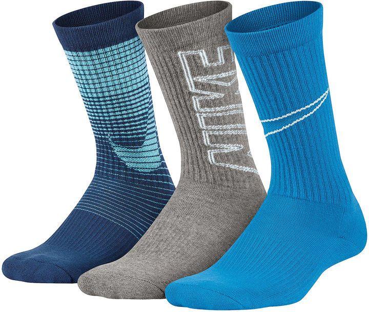 70387ac98 Nike Performance 3 Pack Graphic Crew Socks - Boys | sock | Socks ...