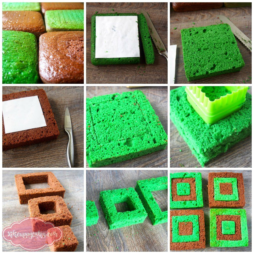 How to Make this Cake Block Minecraft Birthday cake ...